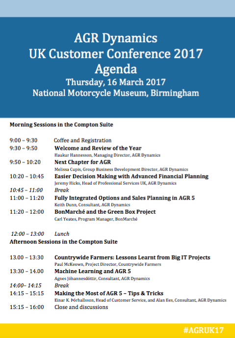 UK Customer Conference 2017