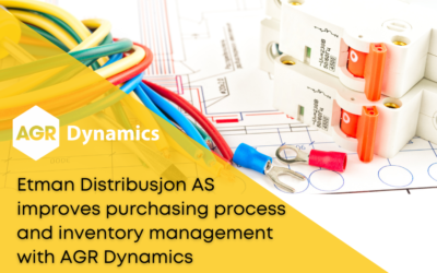 Etman Distribusjon AS improves the purchasing process and inventory management with AGR Dynamics Inventory system
